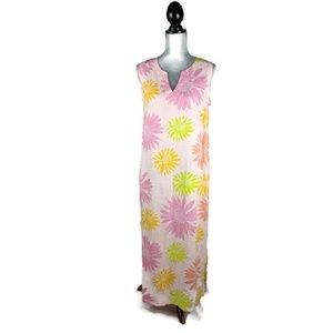 Fresh Produce Linen Maxi Dress Womens M Sleeveless